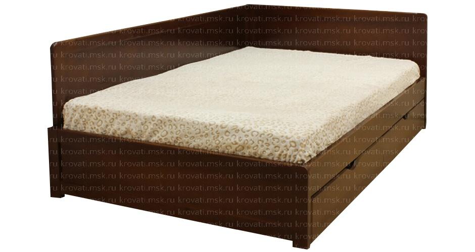Кровать юниор 5+ с матрасом и тремя спинками